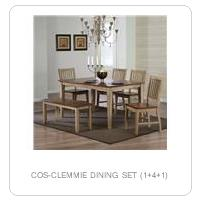 COS-CLEMMIE DINING SET (1+4+1)